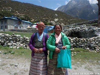 ターメ村祭りに来た女性