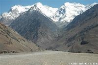 ワハーン渓谷ヒンドゥークシュ山脈の眺め