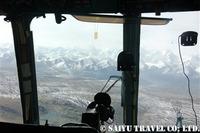 ヘリフライトの中からの展望
