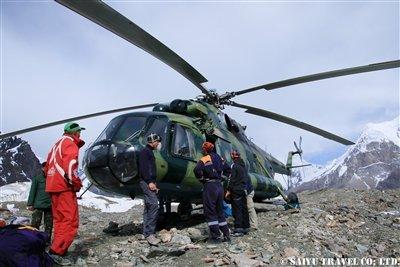 南イニルチェク氷河ベースキャンプに到着KW2A2502