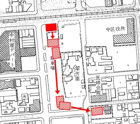 (朝日)名古屋市都市計画基本図(昭和30・33年)1