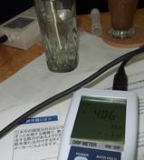 ORP計での水素を測定