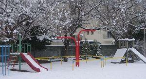 雪の日の園庭
