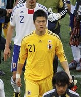 日本代表の守護神・川島選手