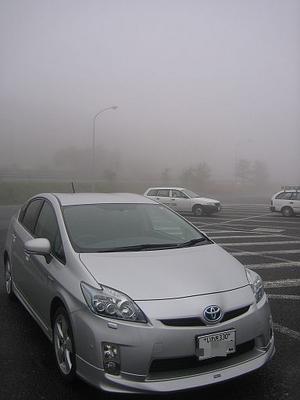 まさに濃霧!