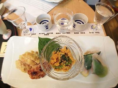 「利き酒 & 楽食会」in まるとみ酒店1