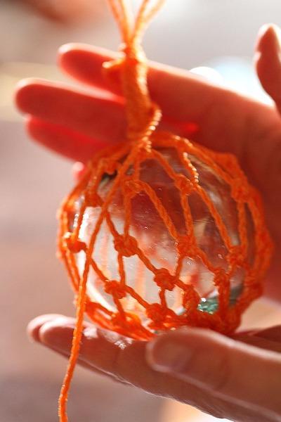 中之作・ガラス浮き球アミアミ教室5