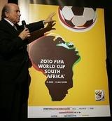 ワールドカップのポスターはエトーの顔