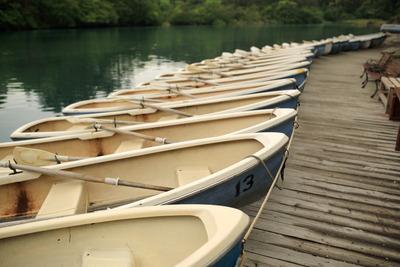 五色沼のボート乗り場2