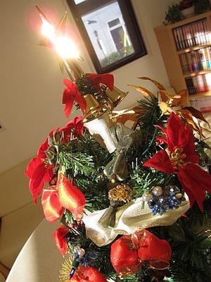 待合室クリスマスツリー
