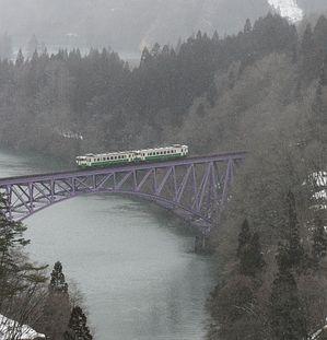 JR只見線の鉄橋