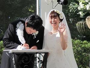 元スタッフの結婚式2