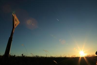 夕刻の太陽1