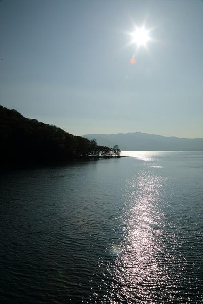 洞爺湖(遊覧船のデッキより)