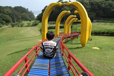 三崎公園の滑り台①