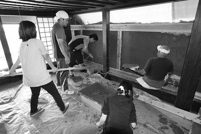 土塗り壁左官教室第二弾3