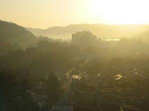 秋保温泉 伝承千年の宿 「佐勘」から東を望む