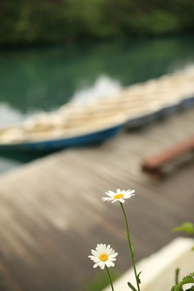 五色沼のボート乗り場3