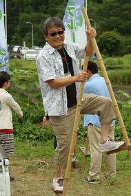 大和田自然農園さん、竹馬1
