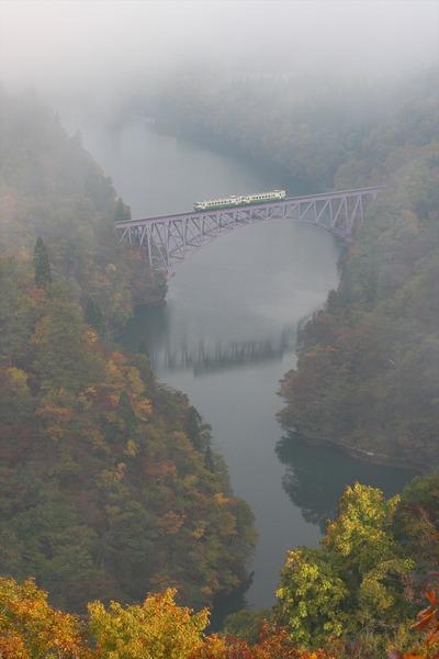 只見線の第一鉄橋、こんな時もある(泣)