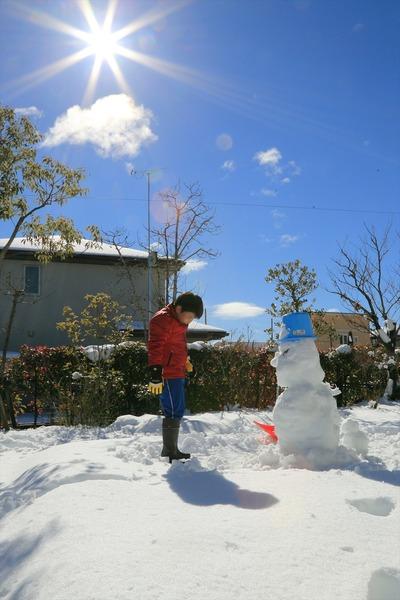 我が家の雪だるま