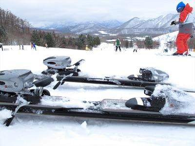 箕輪スキー場にて2