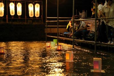 夏井川の灯篭流し3