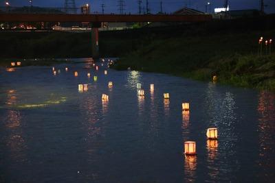 夏井川の灯篭流し2