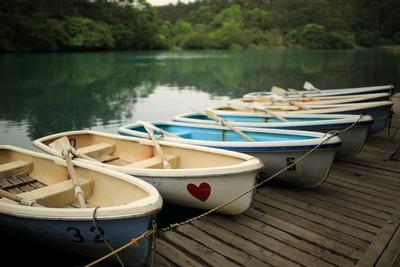 五色沼のボート乗り場1