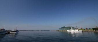 小名浜港の夏らしい朝