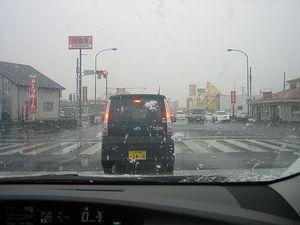 水戸でも雪が降っていた!