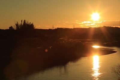 夕刻の太陽2