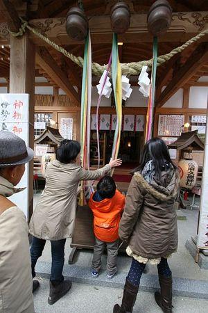 初詣(長男は元旦からの冬期講習で欠席)