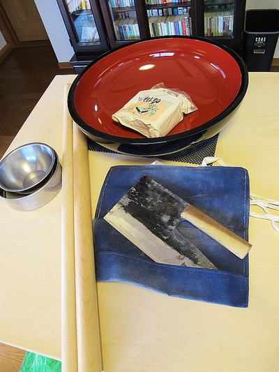 蕎麦打ち in 中央台2