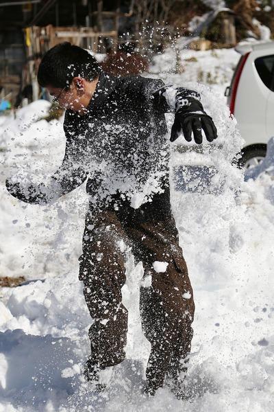 貝泊・雪合戦2