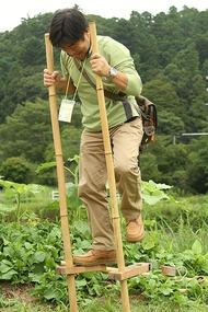 大和田自然農園さん、竹馬2