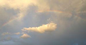 半円の虹(アップ)