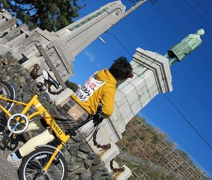 中田市長の銅像