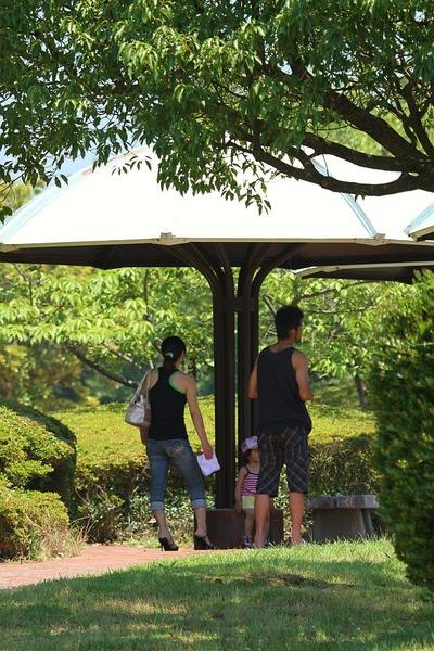 三崎公園に人々が憩う④