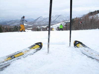 箕輪スキー場にて1
