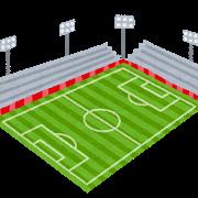 サッカー会場