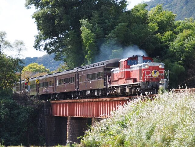 1 DD51-1043 長門峡発車 その2