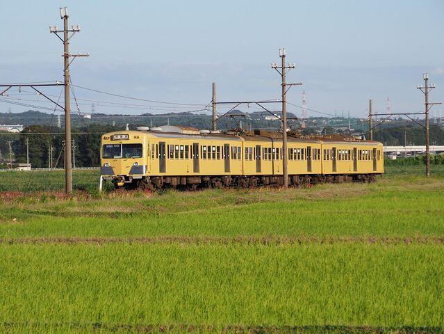8   西武色黄色電車 三里~丹生川間 その1