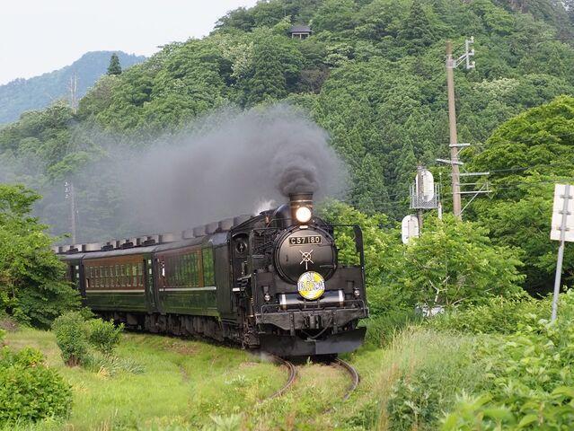 8 C57-180 津川駅入線 その1