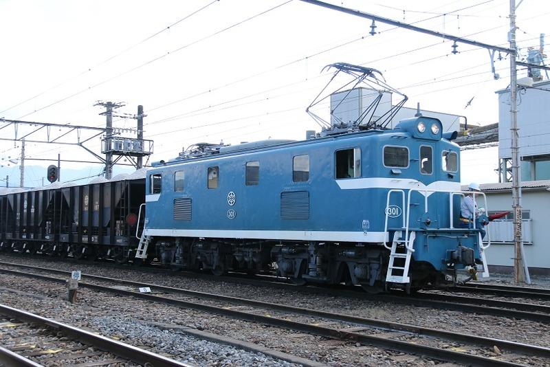 4  秩父鉄道 武州原谷駅にて 301号機 石灰石列車 その3
