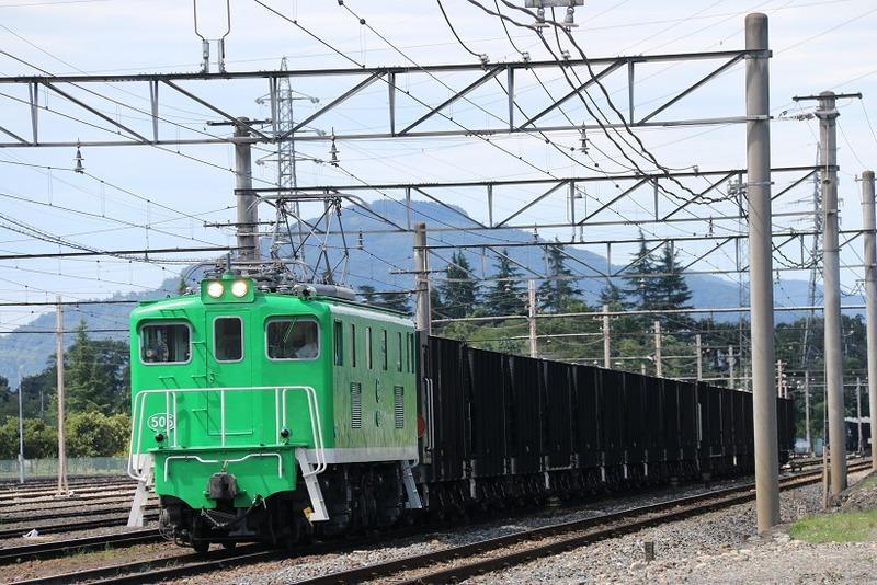 4  秩父鉄道 武州原谷駅にて 505号機 回送列車  その1