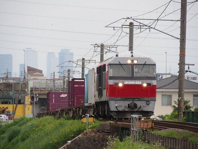 1  DF200-222 蟹江~永和間 コンテナ列車 その1
