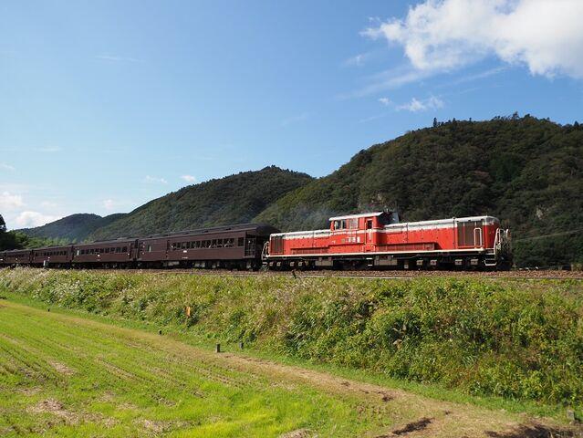1 DD51-1043 長門峡発車 その5