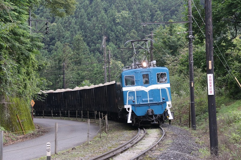 2 鉱石列車 102号機 影森近くにて その12