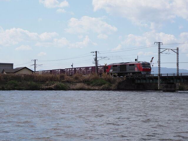 7 3DF200-222 日光川橋梁にて その1